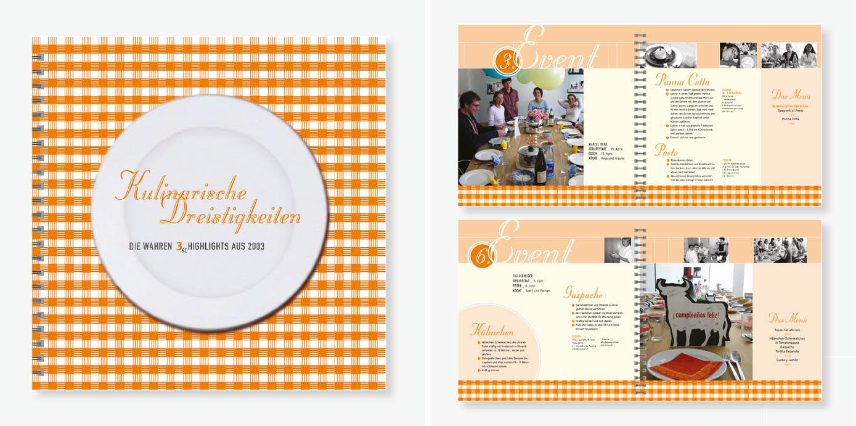 Designentwicklung für ein Firmen-Kochbuch