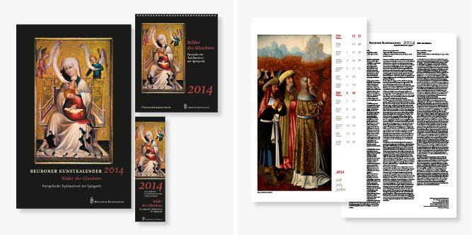 Gestaltung des Beuroner Kunstkalenders