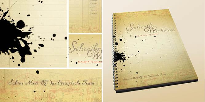 Titelgestaltung für das Booklet einer Schreibwerkstatt