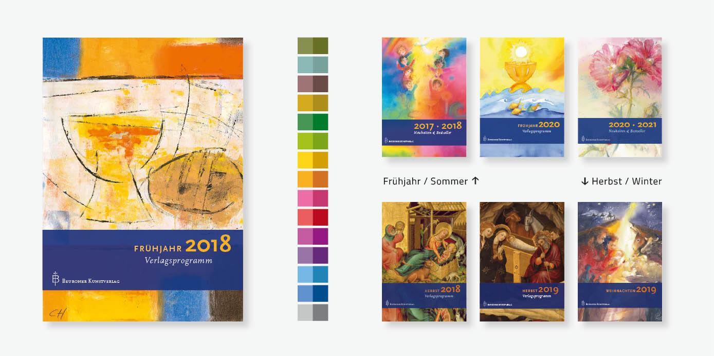 Re-Design Kataloge und website für einen Kunstverlag