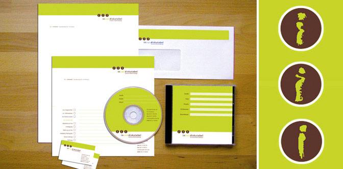 Redesign von Logo und Geschäftsausstattung für eine Designagentur