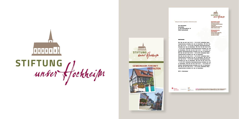 """Corporate Design Entwicklung der Stiftung """"Unser Hochheim"""""""