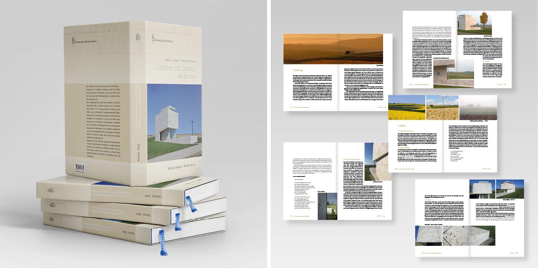 """Gestaltungskonzept des Buches """"St. Johannes und Jakobus am Witthoh"""""""