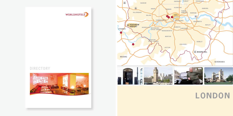 Gestaltungskonzept für das Gesamtverzeichnis einer internationalen Hotel-Gruppe