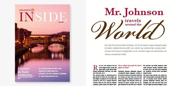 Gestaltungskonzept für das Magazin einer internationalen Hotel-Gruppe